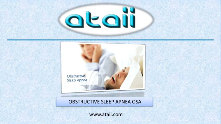 obstructive sleep apnea osa n.
