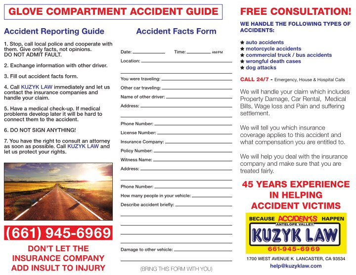 glove compartment accident guide n.