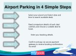 airport parking in 4 simple steps
