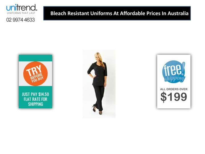 bleach resistant uniforms at affordable prices n.