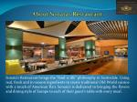 about sonatas restaurant