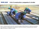 list of construction companies in jordan