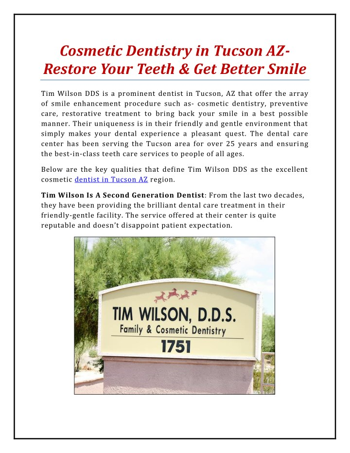 cosmetic dentistry in tucson az restore your n.