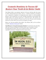 cosmetic dentistry in tucson az restore your