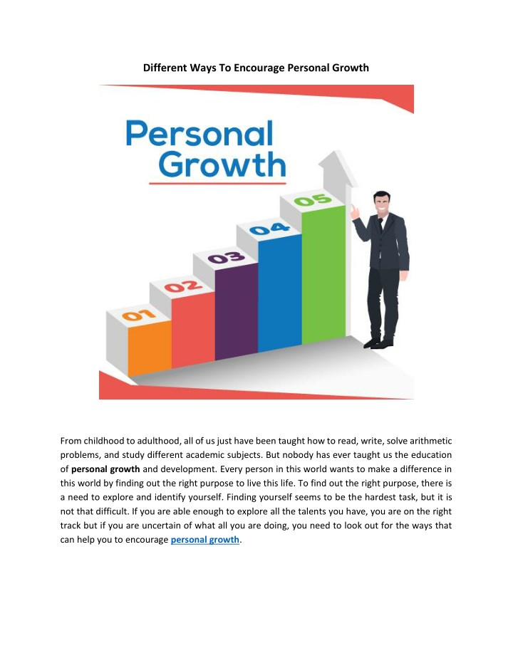 different ways to encourage personal growth n.
