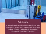 ask around