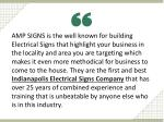 amp signs is the well known for building