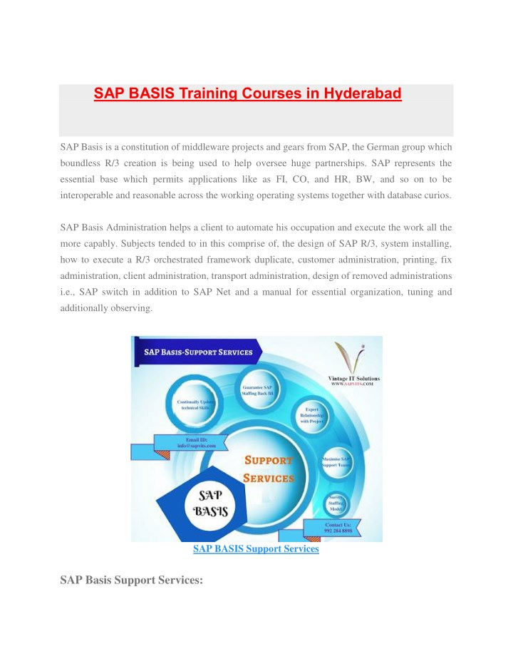 sap basis training courses in hyderabad sap basis n.