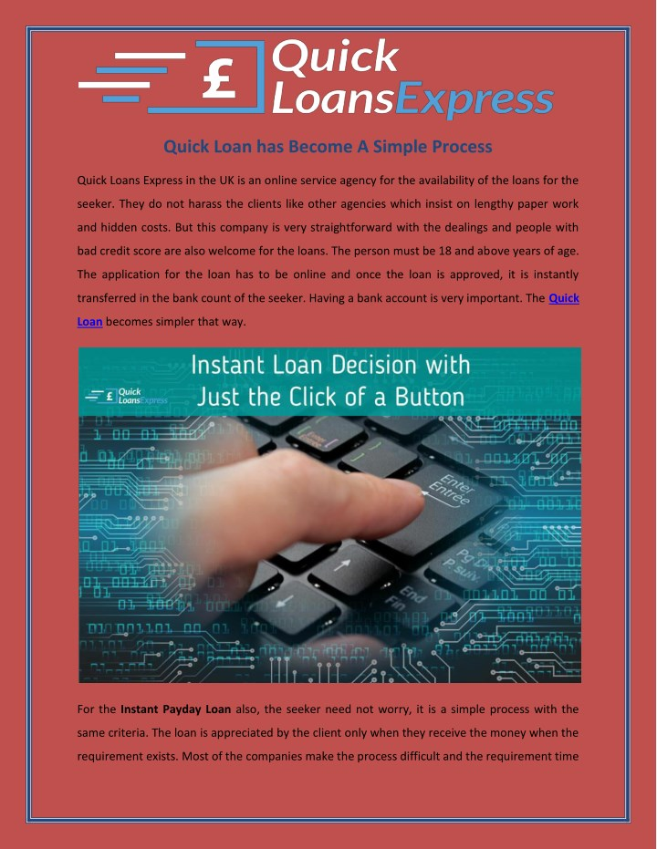 quick loan has become a simple process n.