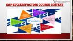 sap successfactors course content