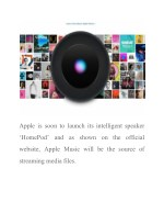 apple is soon to launch its intelligent speaker