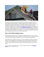 the autumn season is ideal to have roof work done