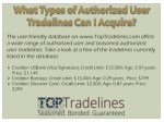 the user friendly database on www toptradelines