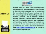 barcode world is a delhi based company which