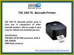 tsc 244 te barcode printer