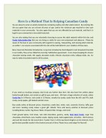 here is a method that is helping canadian candy
