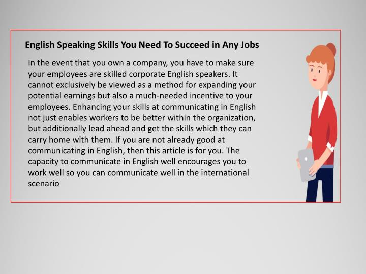 english speaking skills you need to succeed n.