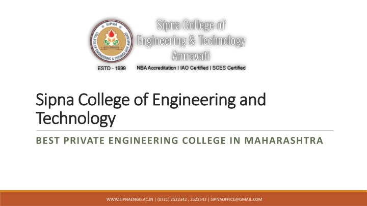 sipna college of engineering and sipna college n.