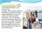 cruises bravewomentravel comwill secure a group