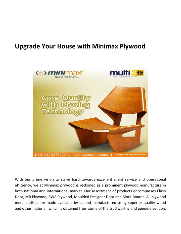 upgrade your house with minimax plywood n.