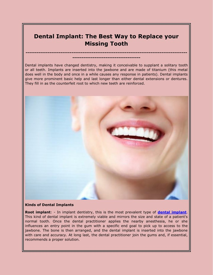 dental implant the best way to replace your n.