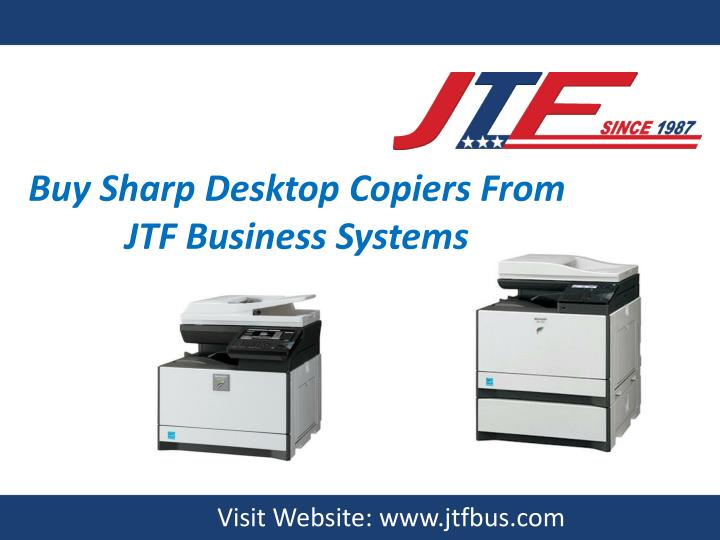 buy sharp desktop copiers from jtf business n.