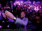 actor david hasselhoff takes a selfie with fans