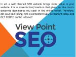 in all a well planned seo website brings more