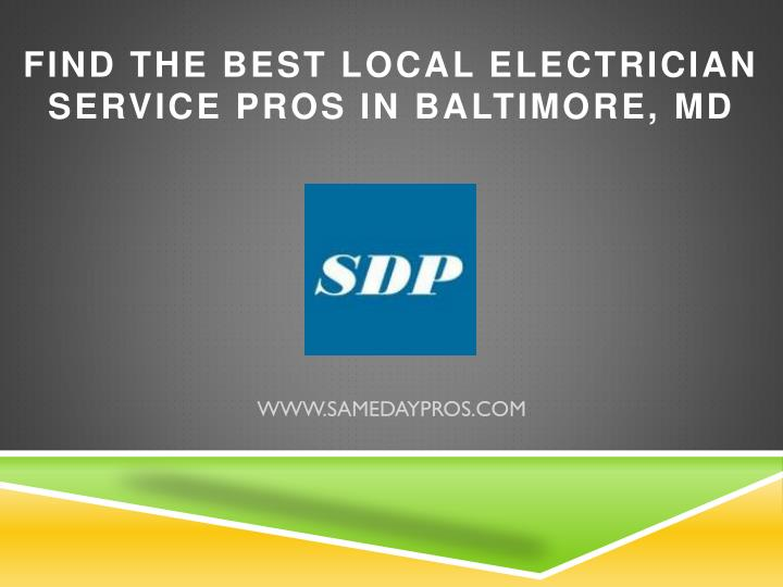 find the best local electrician service pros in baltimore md n.