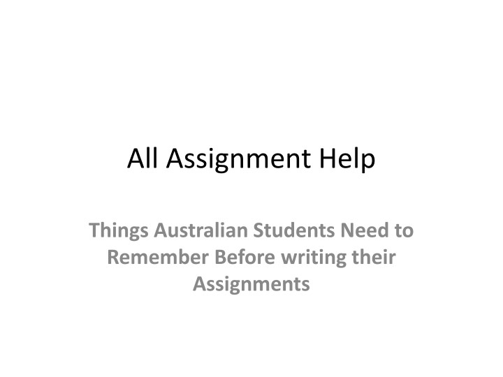 all assignment help n.