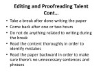 editing and proofreading talent cont take a break