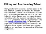 editing and proofreading talent