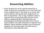 researching abilities