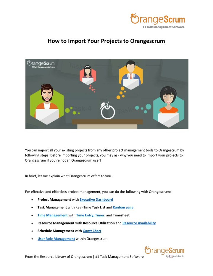 how to import your projects to orangescrum n.