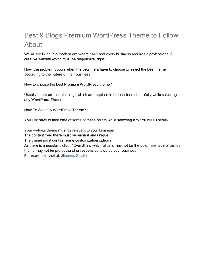 best 9 blogs premium wordpress theme to follow n.
