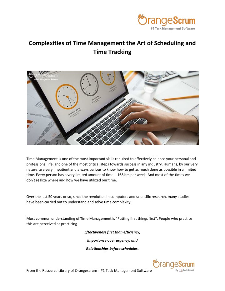 complexities of time management n.