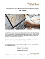 complexities of time management