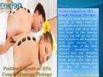 positive impacts of spa couple massage therapy