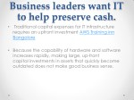 business leaders want it to help preserve cash 1