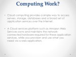 how does cloud computing work cloud computing