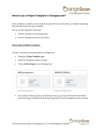 how to use a project template in orangescrum