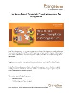 how to use project template in project management