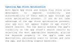 ignoring app store optimization both apple