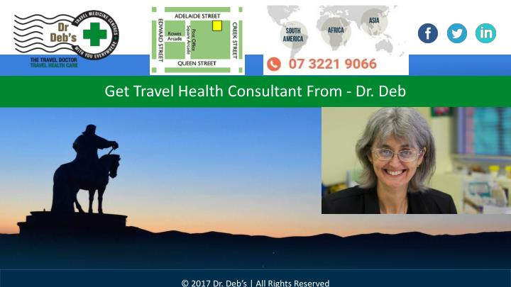 get travel health consultant from dr deb n.