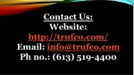 contact us website http trufco com email