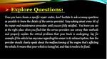 explore questions