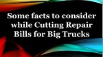 some facts to consider while cutting repair bills