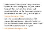 there are three immigration categories