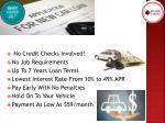 no credit checks involved no job requirements