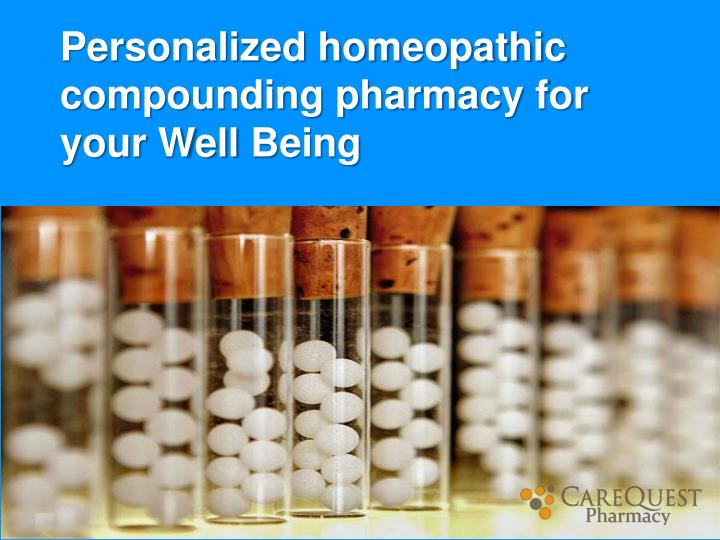 personalized homeopathic compounding pharmacy n.